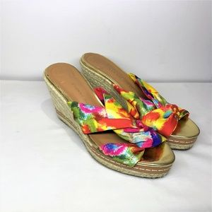Etienne Aigner Shoes - Etienne Aigner Wedge Sandals Yellow & Pink 6